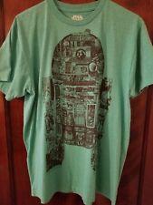 Star Wars R2-D2 Fifth Sun Shirt Mens Size Medium Green Graphic T-Shirt