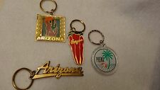 """Arizona"" Themed Key Chains Pack of 4 Vintage (80's) Unused ! Old Inventory"