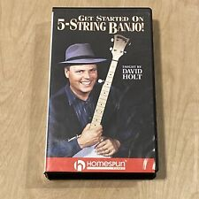 Get Started on 5-String Banjo! Vhs By David Holt Homespun Learn Play Banjo Music