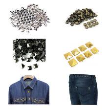 Moda 50-100 un. Forma Pirámide Metal Punk espiga de bolsas de ropa cueros Craft