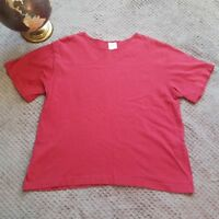 Partners by Mervyns Womens Red Short Sleeve Top 100% Cotton Knit Size Medium