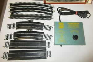 VINTAGE TYCO PPK TRANSFORMER T-54A & 20pc. STEEL TRACK LOT -TESTED GOOD & CLEAN
