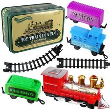 Toy Train In a Tin Box Can W/ Track (WHOLESALE LOT OF 10X)