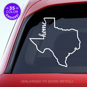 "Texas State ""Home"" Decal - TX Home Car Vinyl Sticker - Add a heart over a city!"