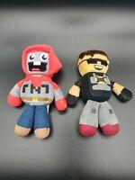 "Tube Heroes Exploding TNT Sky 8"" Plush Toy Figure Lot of 2"