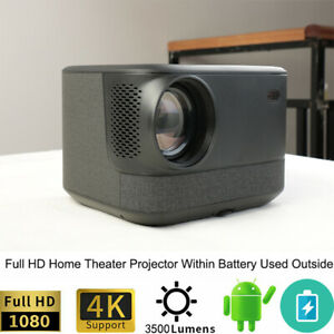 Full HD 4K Home Theater Cinema projector within battery android Blue tooth WIFI