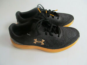 Under Armour Liquify Running 3021946 003 man black/gold shoes  Black New