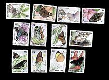 St. Vincent  1992 Butterflies  Scott# 1659-1670