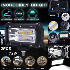2PCS 5'' 72W LED Work Light Flood Driving Lamp for Jeep Truck Boat Offroad IP67