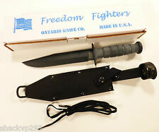 BRAND NEW Ontario 8106 Freedom Fighter FF6 Knife & Sheath MADE IN THE USA OKC