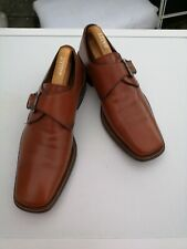 Mens MAGNANNI 100% Leather, Brown Monk Strap Loafers UK 8.5 (42.5).