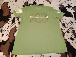Authentic Grunt Style, Let's get Shammered, 100% Cotton, Large Green