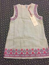 NWT VINEYARD VINES GIRL'S 100% COTTON EMBROIDERED SEERSUCKER SHIFT DRESS-size 7