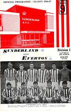 SUNDERLAND V EVERTON  25 MAR 1967  Inc FLR VGC.
