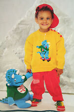 Boys and Girls Knitted Dinosaur Jumper and Dinosaur Toy Knitting Pattern