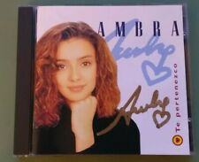 Ambra CD Te Pertenezco Español CON AUTOGRAFO Firmado COMO NUEVO 1996 Zafiro