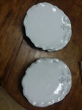 """FLEUR DE LEIS * 10.5"""" DINNER PLATE SET OF 4 * MADE IN ITALY * NEW IN BOX"""