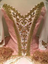 Professional Ballet Tutu Hooped Bell Costume Aurora Sugar Plum Fairy Sleeves S/M