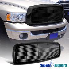 Dodge 02-05 Ram 1500 03-05 Ram 2500 3500 ABS Billet Hood Grille Glossy Black 1PC