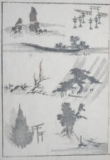 Hokusai manga: paisajes: Original de la impresión xilografía japonesa (xilografía)
