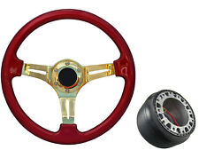 Red Gold TS Steering Wheel + Boss Kit for SEAT 039