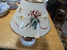 """Lenox """"Winter Greetings"""" 10 Inch Candle Lamp - Made In China"""