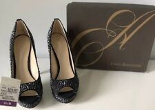 Enzo Angiolini Platform Pumps Black sparkle size 8.5  With Box NEW never worn