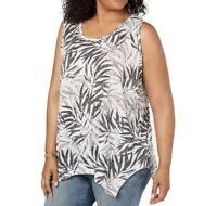 Size 1X Style & Co Shark Bite Tunic Tank Top Blouse Shirt Women's Plus Size NWT