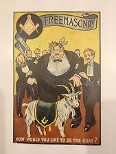 Cadre gravure humorisrique Franc-Maçonnerie américaine