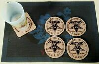 Venom Welcome to Hell 4 CORK DRINK COASTERS / POSAVASOS DE CORCHO
