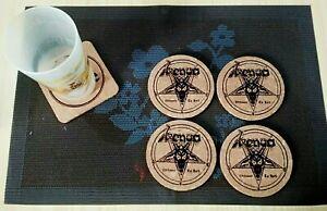 Venom Welcome to Hell 4 CORK DRINK COASTERS / POSAVASOS DE CORCHO