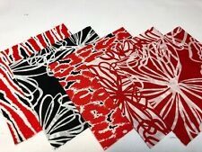 """40 5"""" Quilting Fabric Squares  PreCut Quilting Charm Pack Red Black Wild One"""