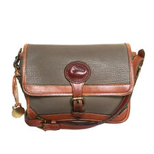 DOONEY & BOURKE ALL WEATHER LEATHER OLIVE & BROWN CROSSBODY BAG
