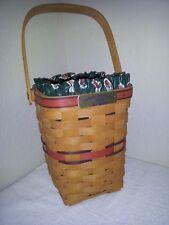 Longaberger Bee Basket w/ Liner 1994