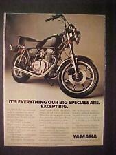 OLD ~JAPANESE YAMAHA MOTORCYCLE JAPAN MOTOR BIKE ART PRINT AD~ VINTAGE ORIG 1980