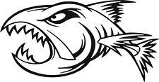 Logotipo de Pesca Angry peces III Adhesivo Calcomanía Etiqueta Engomada Del Vinilo De Pesca Con Mosca Tackle Box