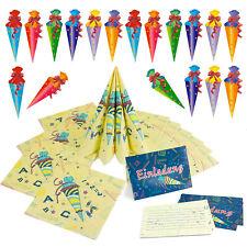 Schuleinführung Schulanfang Einschulung Deko Set Einladungskarten Servietten uvm