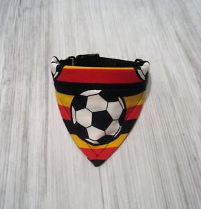 Deutschland Flagge Ball Fussball Halsband 24-27cm  Hundehalstuch Hundebekleidung