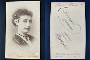 Eulenstein, Leipzig, Lina Trieb Vintage cdv albumen print. Tirage albu