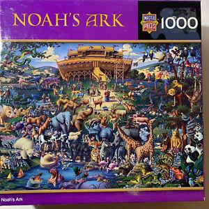 Master Pieces Noah's Ark Puzzle 1000 Pc Eric Dowdle 26 X 19 Bible Flood Animals