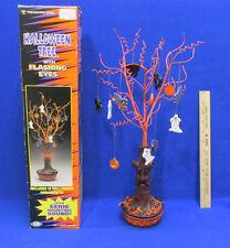 Halloween Tree w/ 12 Ornaments Flashing Eyes Eerie Sound 3Way Switch Batteries