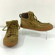 Ipath Shoes Men's Size 8.5 High Top Yellow Leather Suede Lace Up Work Boots
