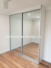 Melbourne Wardrobe Sliding Doors Made to Measure DIY Mirror Panel Glass,custom