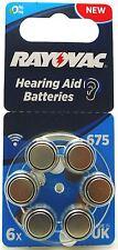RAYOVAC Acoustic speciali Mercury Free protesi auditiva batterie (confezione da 6) - dimensioni 675