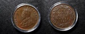1920 KGV BRITISH INDIA QUARTER ANNA IN SECURE CAPSULE