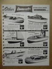 1958 CAVACRAFT Model Catalog Sheet Power Boats Airplanes Vintage Original