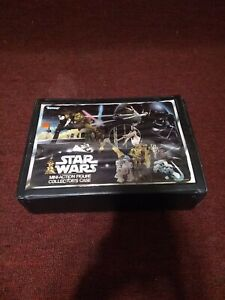 1977 star wars mini-action figure collector's case with 20 figures