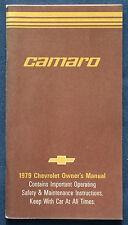 Owner's Manual * Betriebsanleitung 1979 Chevrolet Chevy Camaro (USA)