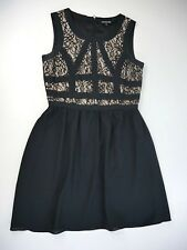 Gianni Bini Womens Black Lace & Ribbon Bodice Cocktail Evening Dress Size 6