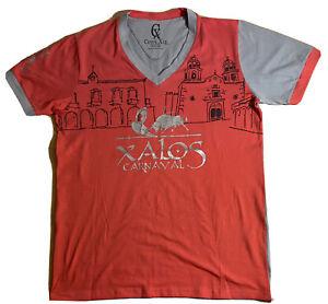 Jalostotitlan Jalisco Carnival T-Shirt Camisa MEXICO Toro Bull Large XALOS